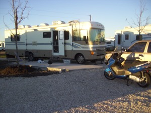 Parked safely at the RV park.